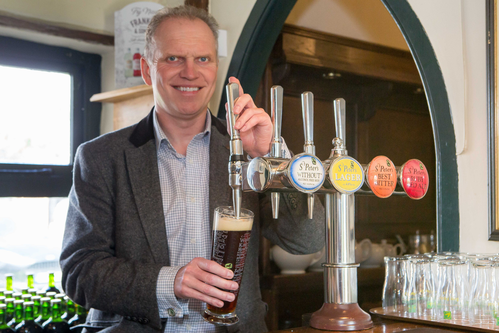 Weatherspoon's tap into St Peters Brewery
