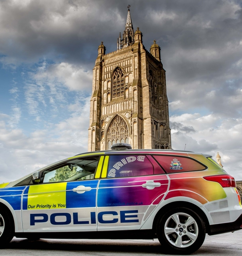 "Norfolk Police Launch ""Pride"" Car to Tackle Hate Crime"